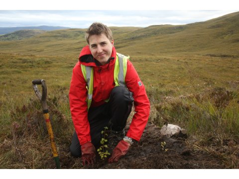Tree planting is one of the main activities on Conservation Weeks at Dundreggan, to help reforest the barren hillsides.