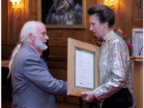 HRH The Princess Royal with Alan Watson Featherstone