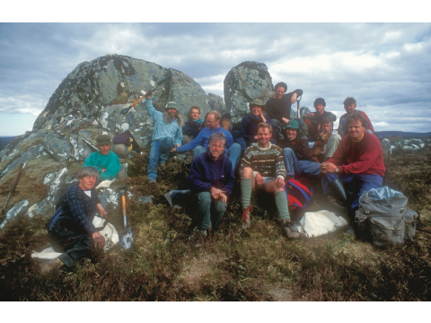 Volunteers from one of our Conservation Week groups in spring 1994, when they were planting trees near the top of the Glac Daraich exclosure.