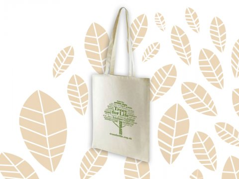 Linen shopping bag