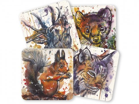 Rewilding table coasters