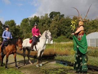 L-R Lorna Linfield, Shela-Ann Ryan, Ariel Killick as  Forest nymph, Dundreggan Conservation Estate (medium)