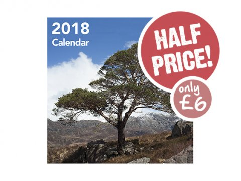 Trees for Life calendar 2018 HALF PRICE