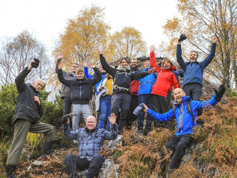 Volunteer group at Dundreggan in autumn edited 848