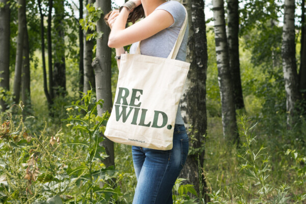 REWILD Trees for Life Canvass Bag