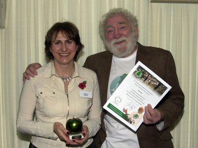 Receiving Green Apple award
